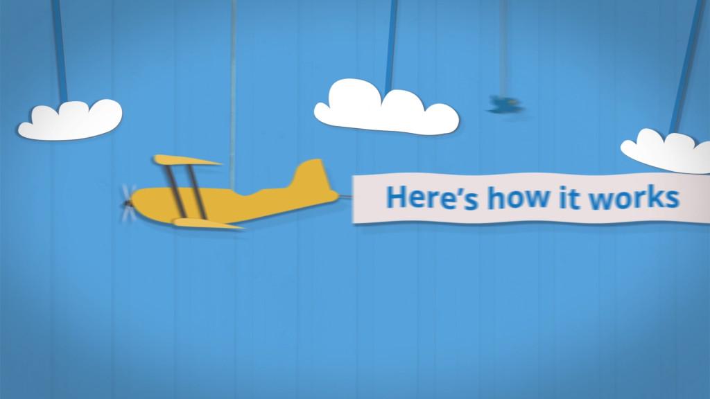 Lending Stream animated explainer video - Lost Marble Media plane